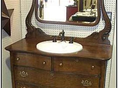 Challenges Of Using An Antique Bathroom Vanity Grosse Antique Furniture Turned Into Bathroom Vanity