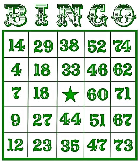 Bingo Card Template With Numbers by Free Printable Bingo Cards For Search