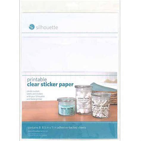 printable stickers walmart silhouette printable sticker paper 8 5 quot x 11 quot 8 pkg