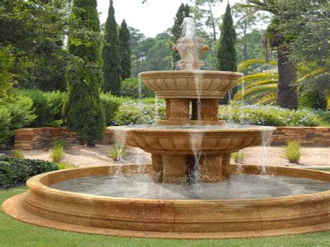fountain ideas for backyard water fountains front yard