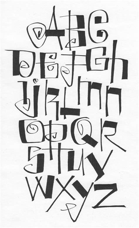 typography practice kooky alphabet 1 171 lark crafts