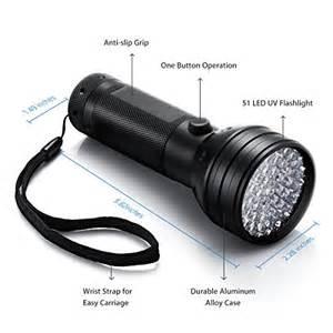 turbot 51 led uv flashlight blacklight handheld