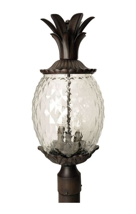 Pineapple Outdoor Light Fixtures Acclaim Lighting 7517bc Black Coral 3 Light 22 25 Quot Height Pineapple Post Light From The Lanai