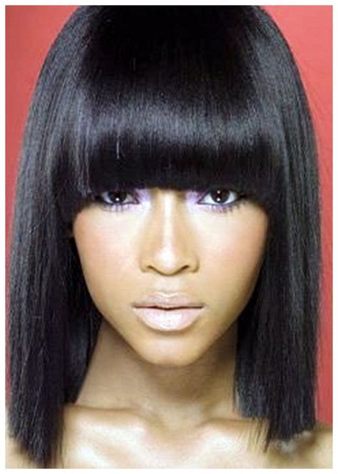 Hairstyle For Black Hair by Hairstyles With Bangs For Black 2016 Bob