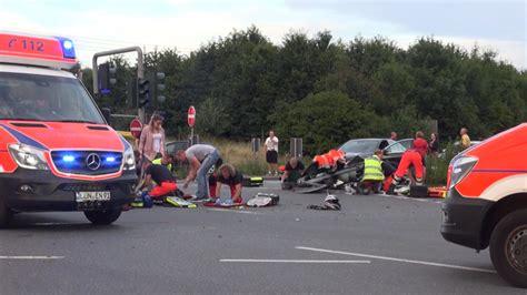 Unfall Motorrad B236 by Motorradunfall In L 252 Nen Bei Dortmund Fahrer 20 Und