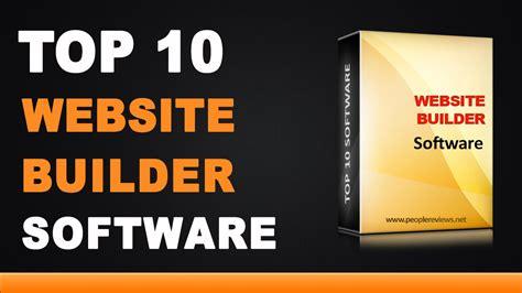 best web builder best website builder software top 10 list