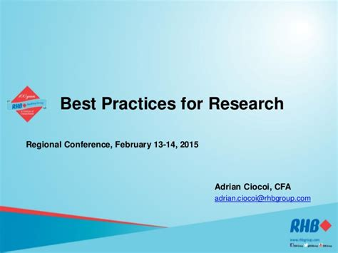 Best Practices For Equity Research Analysts adrian ciocoi best practices for research