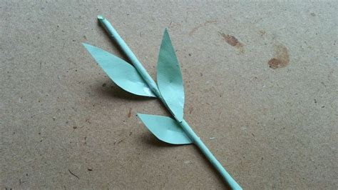 how to make a paper stem with leaves diy crafts