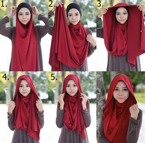 tutorial hijab labuh fashion inspiration for muslim women s hijab style
