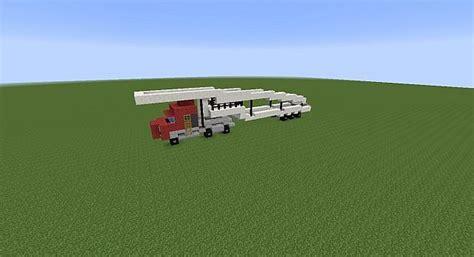 minecraft semi truck semi truck with decker car transport empty
