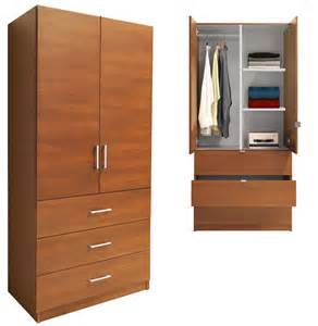 Wardrobe Cabinet With Shelves Alta Armoire Wood