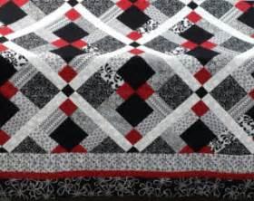 Red Black And White Comforter Popular Items For Black White Quilt On Etsy