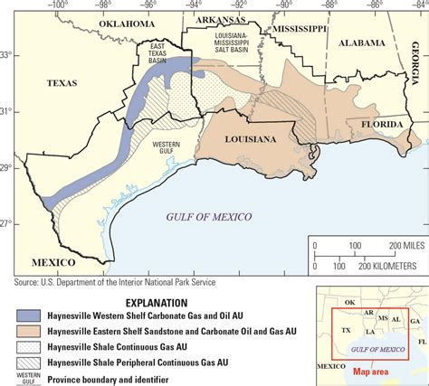 louisiana formation map usgs estimates 304 trillion cubic of gas in