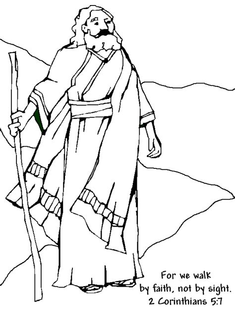 bible coloring pages abraham and sarah abraham coloring page 2 corinthians 5 verse 7 awana