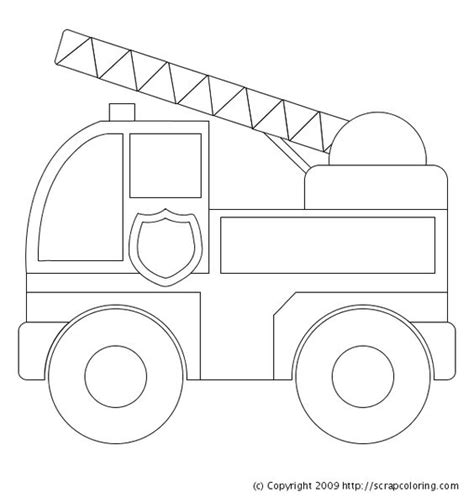 Truck Coloring Page For Preschoolers | image detail for preschool fire truck coloring pages