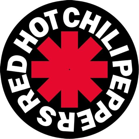 red hot chili peppers black red hot chili peppers logo vinyl slipmat red hot
