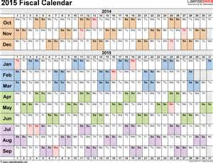 Fiscal Year 2015 Calendar Fiscal Calendars 2015 As Free Printable Word Templates