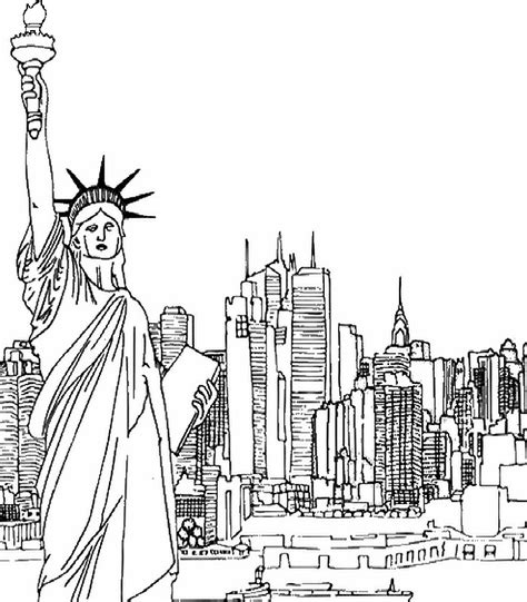 free coloring pages of new york skyline