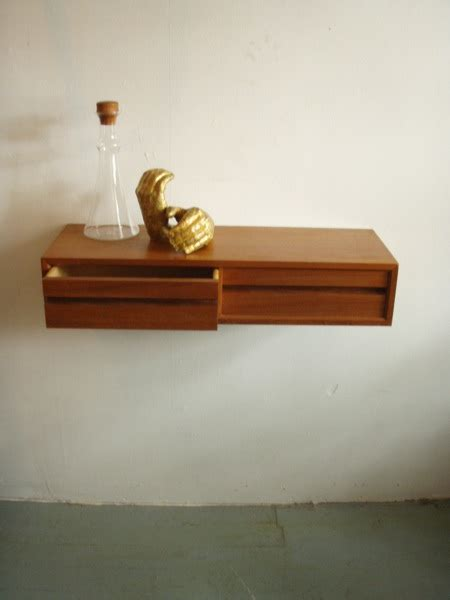 Wall Drawer Shelf by Severely Vintage Poul Cado Floating Wall Shelf