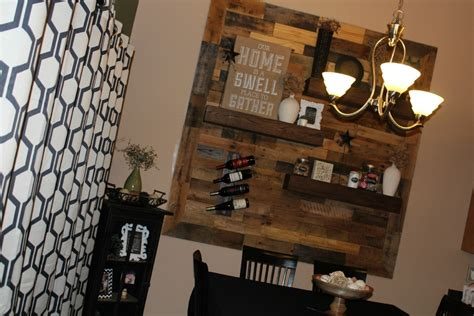 dining room remodel pallet wall floating shelves dining room remodel pallet wall floating shelves
