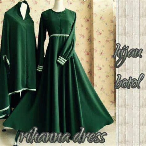 Baju Hijau Botol rihanna dress by aidha hijau botol