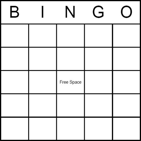 bingo standard card template search results for blank bingo templates to customize