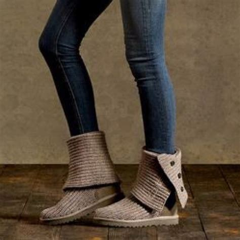 home women womens ugg classic cardy sweater tall boots 5819 43 off ugg shoes ugg classic cardy gray boots from