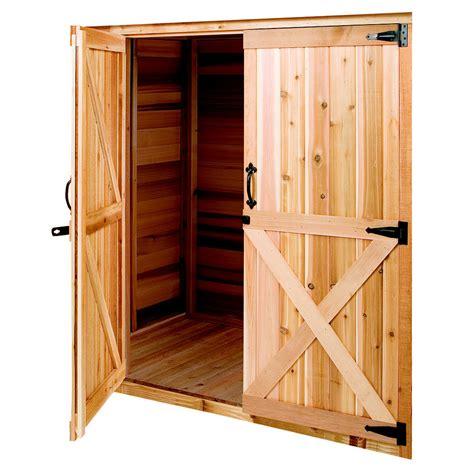shop cedarshed cedar storage shed door  lowescom