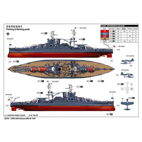 Model Kit 3d Metal Puzzle Uss Arizona battleship uss arizona bb 39 1941 plastic model kit 1 200 scale