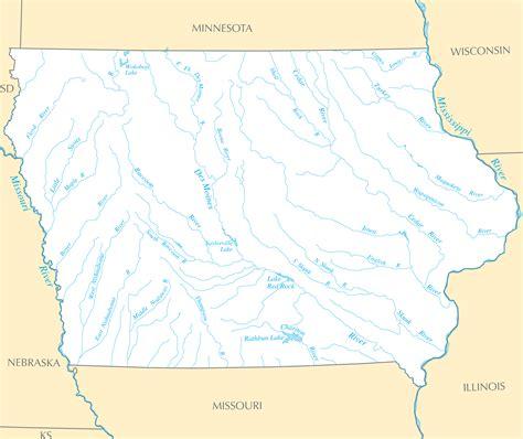 map of iowa rivers iowa map blank political iowa map with cities