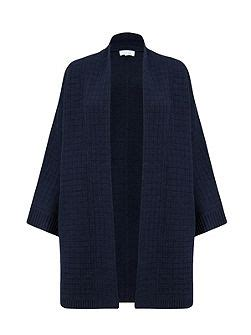 house of fraser ls linea machine washable merino ls cardigan navy house of