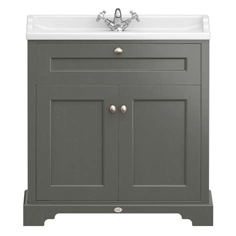 Traditional Bathroom Vanity Units Uk Downton Traditional Vanity Unit 800mm Wide Charcoal