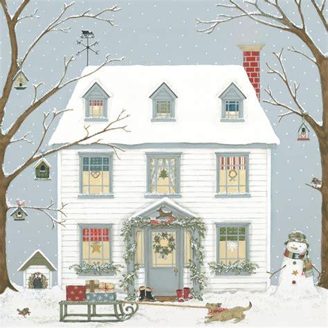 christmas house seasonal 187 christmas house signed giclee print 187 christmas