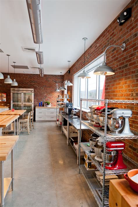 industrial kitchen island in commercial kitchen design