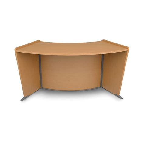 Ofm Reception Desk Ofm 55312 Mpl Marque Curved Reception Station With Plexi Panel Maple Incite Seating