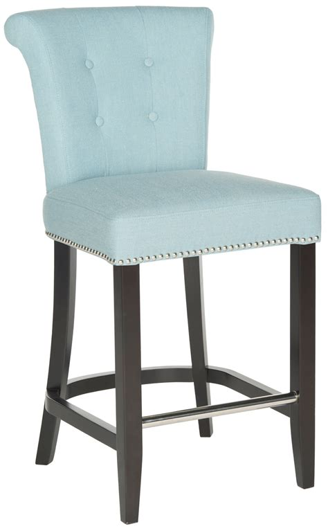 sky blue counter stools hud8241c counter stools furniture by safavieh