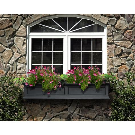 plastic window flower boxes window boxes pots planters the home depot