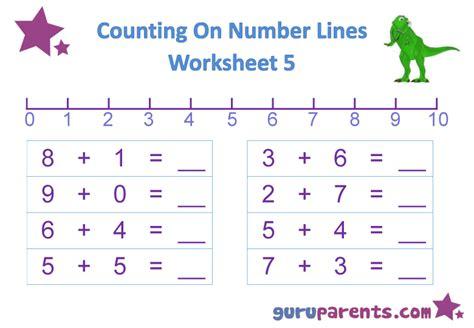 Adding Using A Number Line Worksheets by Number Line Worksheets Guruparents