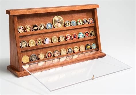 challenge coin displays medium cherry challenge coin displays