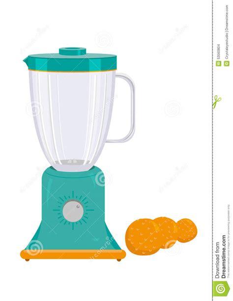 Mixy Blender Orange blender appliance with orange fruit vector and jpg stock