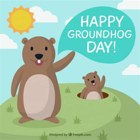 groundhog day anime marmottes illustration t 233 l 233 charger des vecteurs
