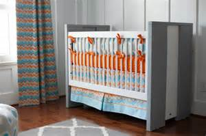 Orange And Blue Crib Bedding Sicat S Orange Gray And Blue Nursery Project Nursery