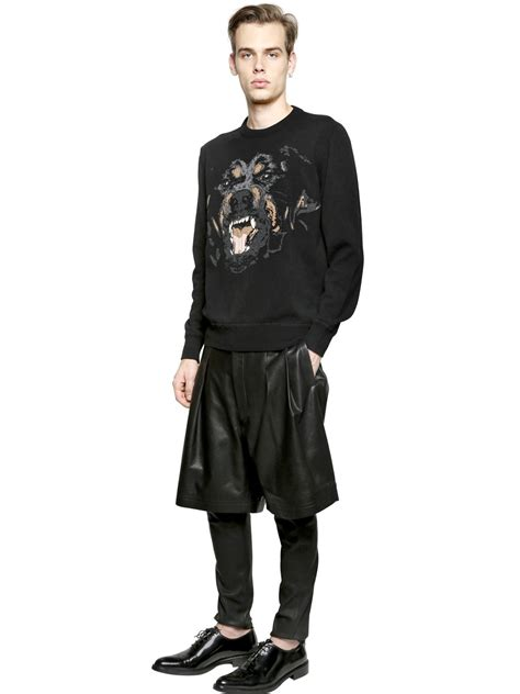 givenchy rottweiler jumper givenchy rottweiler patch wool sweater in black for lyst