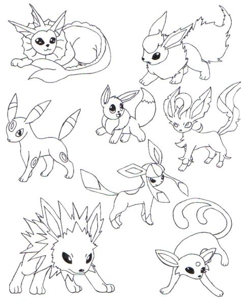 pokemon coloring pages eevee evolutions pretty coloring