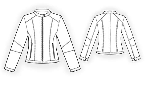 sewing pattern leather jacket jacket with stand collar sewing pattern 4305 made to