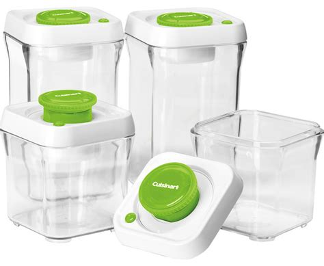 Vacuum Sealed Food Shelf by Cuisinart Fresh Edge 8 Vacuum Sealed Food Storage