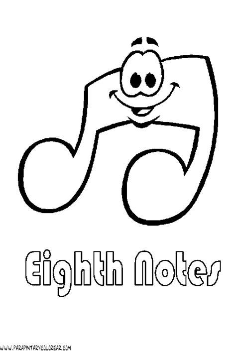 bordes para notitas colouring pages dibujos notas musicales 001
