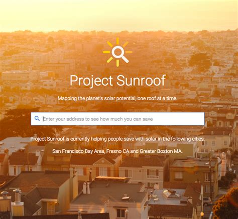 google project sunroof google project sunroof on your roof carousel creative