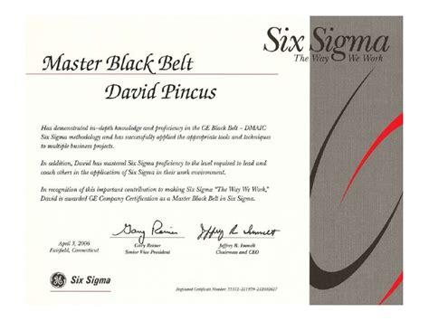 six sigma black belt certificate template ge six sigma certification