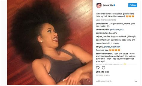 Cardi B Reveals Her Fabulous 'Fro in Confident Instagram Posts   Natural Hair Rules!!!